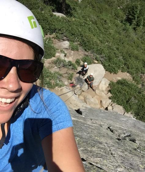 Jessie Rock Climbing selfie