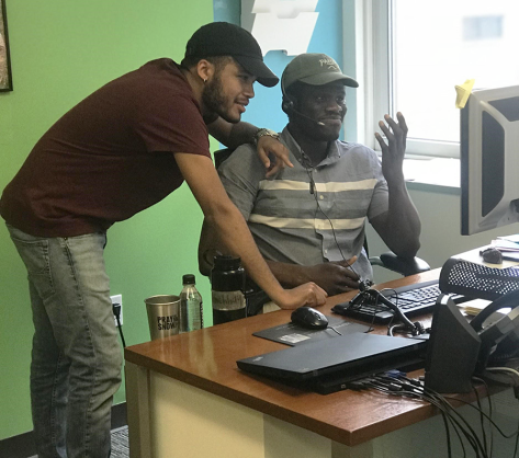 Cesar and mentor Tolu at Summer Search