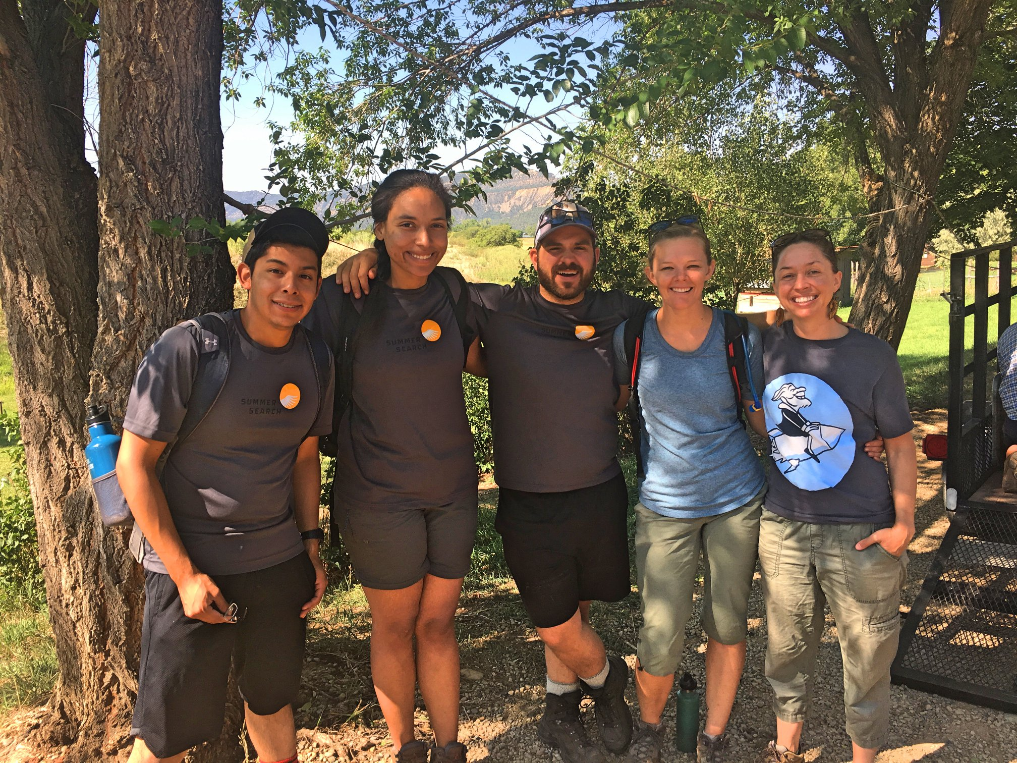 Summer Search staff on a Deer Hill summer experience