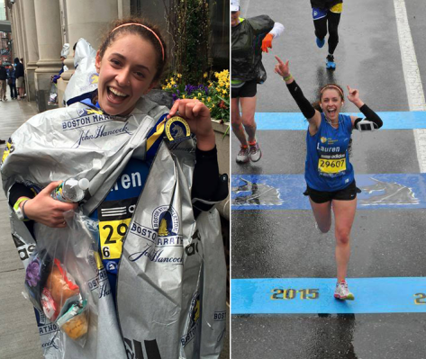 Lauren at the 2015 Boston Marathon