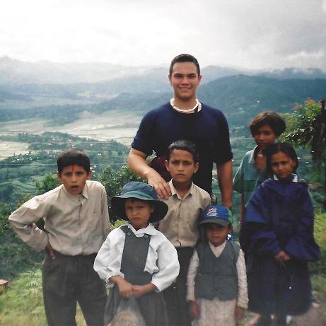 Niles in Nepal on an international service program