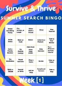 Summer Search Bingo card