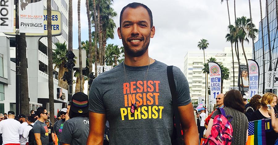 Saul at the LA Resist March